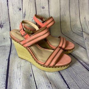 Antonio Melani Coral Bertah Wedge Sandal Size 9M